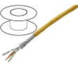 Vodič průmyslový Ethernet S/FTP 6a licna Cu  červená PUR