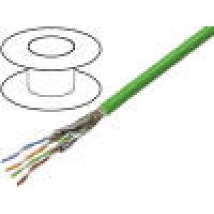 Vodič průmyslový Ethernet, PROFINET S/FTP 6a drát Cu PVC 50m