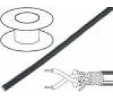 Vodič RS485 1x2x22AWG licna Cu stíněný PVC černá 153m 7,3mm