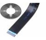 Vodič: plochý kabel 1,27mm licna Cu 10x28AWG stíněný PVC