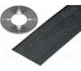 Vodič: plochý kabel 1,27mm licna Cu 20x28AWG PVC černá 30,5m