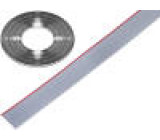Vodič: plochý kabel 1,27mm licna Cu 8x28AWG PVC šedá 30,5m