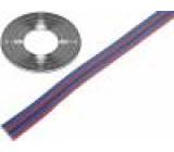 Vodič: plochý kabel licna Cu 6x0,124mm2 PVC 150V 50m