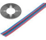 Vodič: plochý kabel licna Cu 5x0,35mm2 PVC 150V 50m