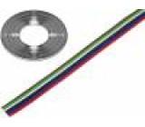 Vodič: plochý kabel licna Cu 6x0,35mm2 PVC 150V 50m