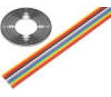 Vodič: plochý kabel 1,27mm licna Cu 14x28AWG PVC 300V 30,5m