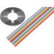 Vodič: plochý kabel 1,27mm licna Cu 20x28AWG PVC 300V 30,5m