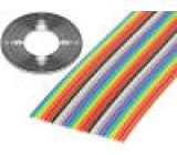 Vodič: plochý kabel 1,27mm licna Cu 26x28AWG PVC 300V 30,5m