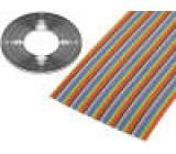 Vodič: plochý kabel 1,27mm licna Cu 64x28AWG PVC 300V 30,5m