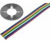 Vodič: plochý kabel licna Cu 10x0,5mm2 PVC 500V 50m