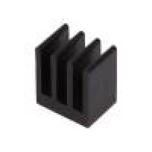 Chladič lisovaný černá L:10mm W:13,5mm H:15,24mm 23,4K/W
