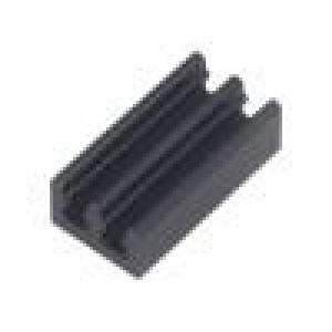 Chladič lisovaný černá L:19mm W:10mm H:6mm 36K/W hliník