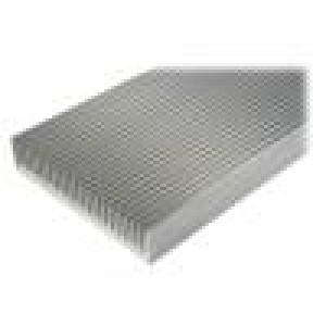 Chladič lisovaný žebrovaný přírodní L:1000mm W:250mm H:50mm