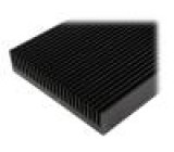 Chladič lisovaný žebrovaný černá L:1000mm W:250mm H:50mm