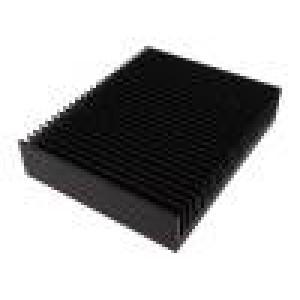 Chladič lisovaný žebrovaný černá L:200mm W:250mm H:50mm