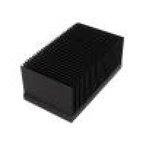 Chladič lisovaný žebrovaný černá L:100mm W:174mm H:75,5mm