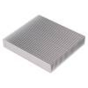 Chladič lisovaný žebrovaný přírodní L:100mm W:90mm H:17mm