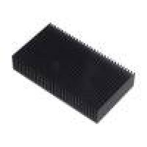 Chladič lisovaný žebrovaný černá L:50mm W:90mm H:17mm hliník