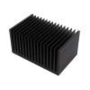 Chladič lisovaný žebrovaný černá L:100mm W:160mm H:82mm