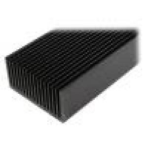 Chladič lisovaný žebrovaný černá L:1000mm W:160mm H:82mm