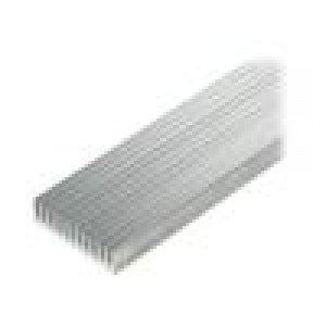 Chladič lisovaný žebrovaný hliník L:1000mm W:59,69mm H:15mm