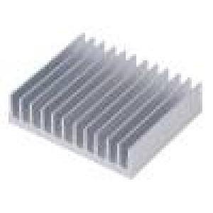 Chladič lisovaný žebrovaný hliník L:50mm W:59,69mm H:15mm