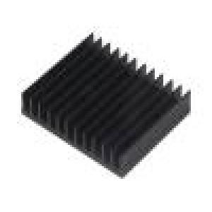 Chladič lisovaný žebrovaný černá L:50mm W:59,69mm H:15mm