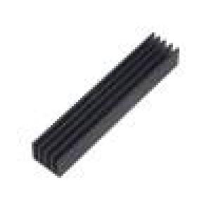 Chladič lisovaný žebrovaný černá L:100mm W:19mm H:10mm