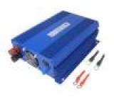 Měnič: automobilový dc/ac 900W Uvýst:230VAC 11÷15VDC 92% IP21