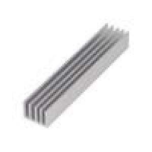 Chladič lisovaný žebrovaný přírodní L:100mm W:19mm H:14mm