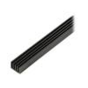 Chladič lisovaný žebrovaný černá L:1000mm W:19mm H:14mm