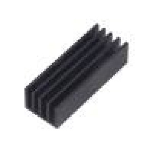 Chladič lisovaný žebrovaný černá L:50mm W:19mm H:14mm hliník