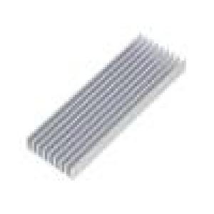 Chladič lisovaný žebrovaný přírodní L:100mm W:33mm H:10mm