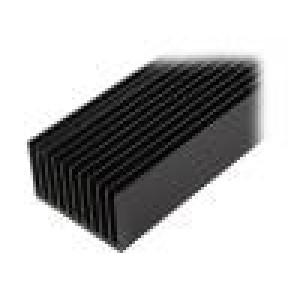 Chladič lisovaný žebrovaný černá L:1000mm W:100mm H:60mm