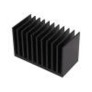 Chladič lisovaný žebrovaný černá L:50mm W:100mm H:60mm