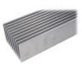 Chladič lisovaný žebrovaný přírodní L:1000mm W:95mm H:70mm
