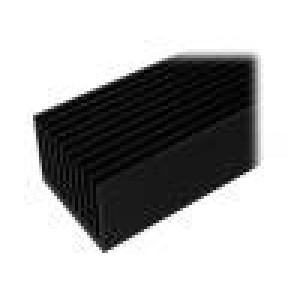 Chladič lisovaný žebrovaný černá L:1000mm W:95mm H:70mm