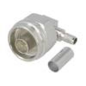 Zástrčka N vidlice úhlové 90° 50Ω RG142,RG223,RG400 na kabel