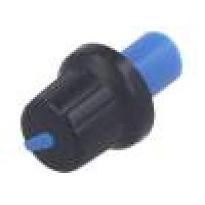 Knoflík s ukazatelem ABS Pr.hříd:6mm Ø16x14,4mm černá