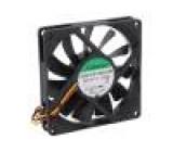 Ventilátor: DC axiální 12VDC 80x80x15mm 62,86m3/h 34,7dBA