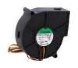 Ventilátor: DC blower 12VDC 75x75x30mm 23,11m3/h 43,5dBA