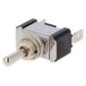 Přepínač páčkový 3 polohy SPDT ON-OFF-ON 20A/12VDC Polohy:3