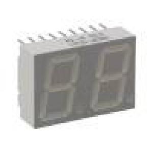 Zobrazovač: LED sedmisegmentový 14,22mm červená 0,9-2,8mcd