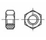 Matice šestihranná M2,5 ocel Povlak: zinek H:2mm 5mm BN:109