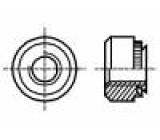 Matice kulatá M2 kalená ocel Povlak: zinek BN:200 lisovací