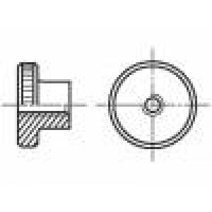 Matice kulatá M3 nerezová ocel A1 Stoupání:0,5 BN:10904