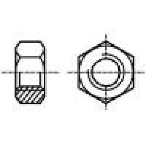 Matice šestihranná M3 ocel Povlak: černěné H:2,4mm 5,5mm