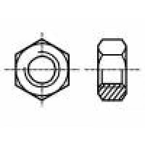 Matice šestihranná M3 ocel Povlak: zinek H:2,4mm Stoupání:0,5
