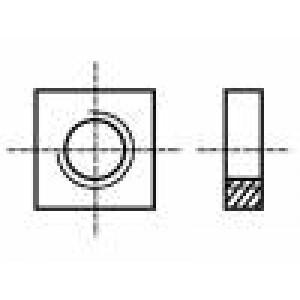 Matice čtvercová M3 ocel Povlak: zinek Stoupání:0,5 BN:145