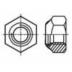 Matice šestihranná M3 ocel Povlak: zinek Stoupání:0,5 5,5mm